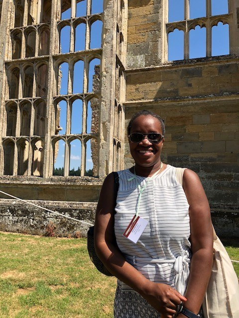 Kim Robinson at Cowdray Heritage, the ruins of one of England's most important early Tudor houses.