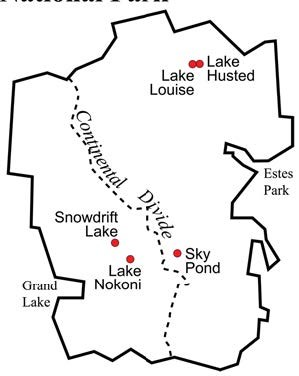 Map of the five lakes included in the study.