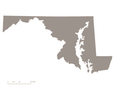 State of Maryland shaded grey
