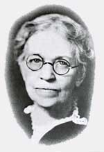 Portrait of Mary Pyle wearing glasses