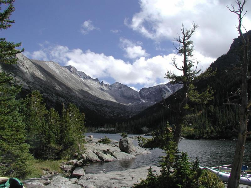 Mills Lake, Rocky Mountain National Park, Colorado.