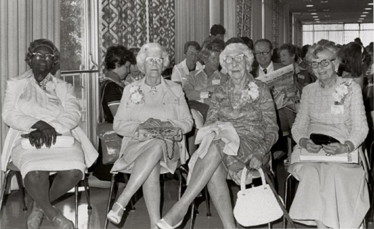 Women Suffragists Honored at the Missouri Women's State Meeting, circa 1970s. National Archives