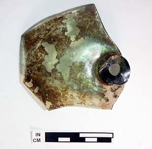 Glass from the Tavern site.