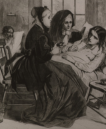 People in hospital at Blackwell Island. National Library of Medicine