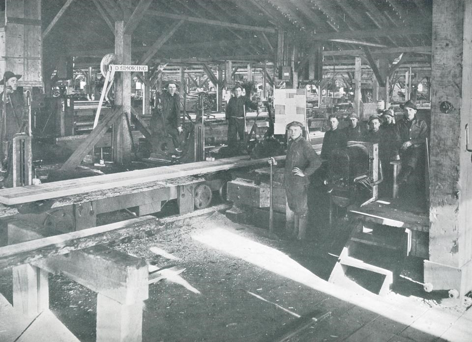 Soldiers inside Spruce Mill