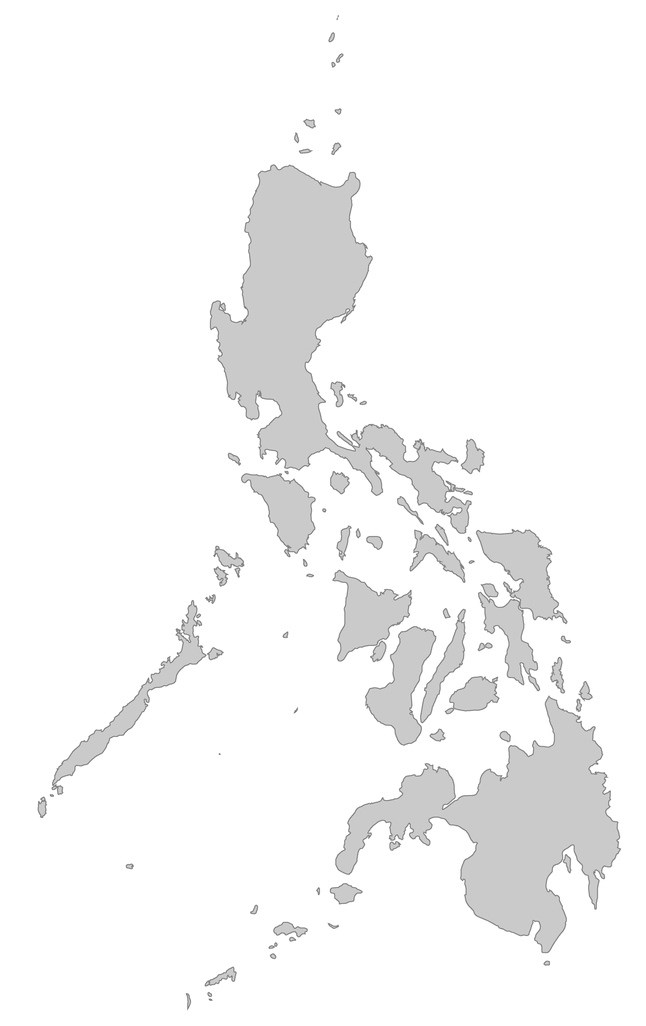 Philippines shaded grey