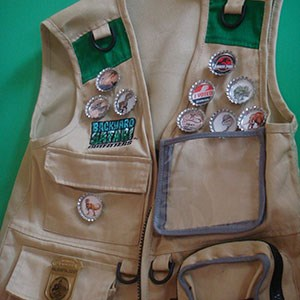 vest with badges