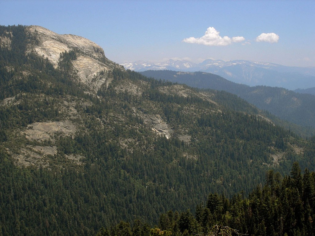 View of Big Baldy from Redwood Canyon
