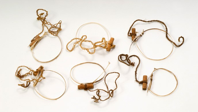 Six traditional Dena'ina snares