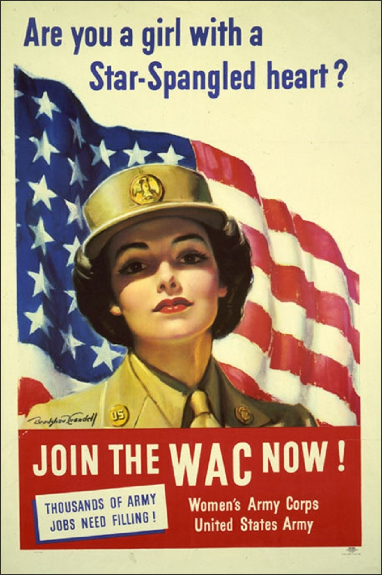 Poster for the Women's Army Corps. (Library of Congress)
