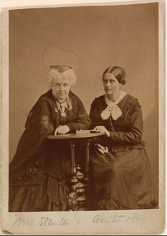 Elizabeth Cady Stanton (left) and Susan B. Anthony (right) National Portrait Gallery, Smithsonian Institution, Object # S/NPG.77.48 http://collections.si.edu/search/detail/edanmdm:npg_S_NPG.77.48
