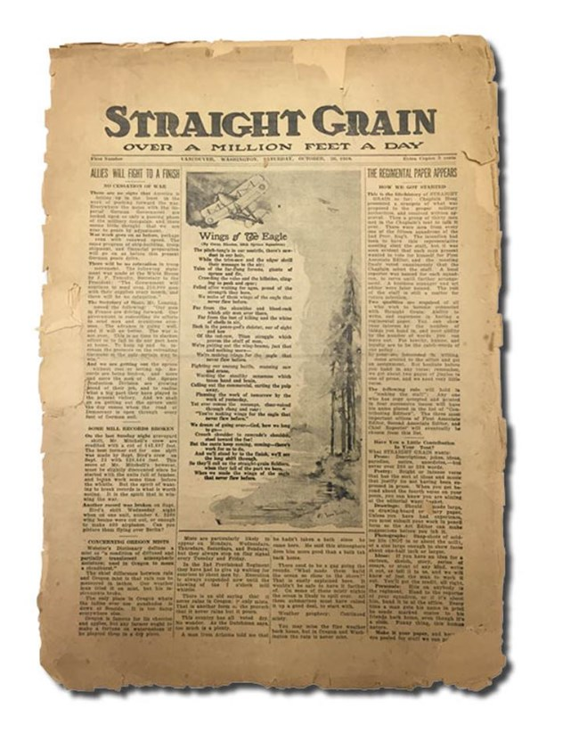 Front cover of Straight Grain newspaper