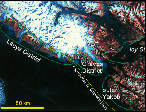 a map of tectonic areas of glacier bay