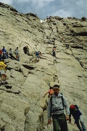 Climbing the Longs Peak Keyhole Route (U.S. National Park ...