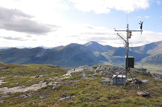 A weather station in the mountains.