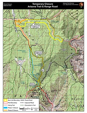 Map of prescribed fire area. Click for larger version.