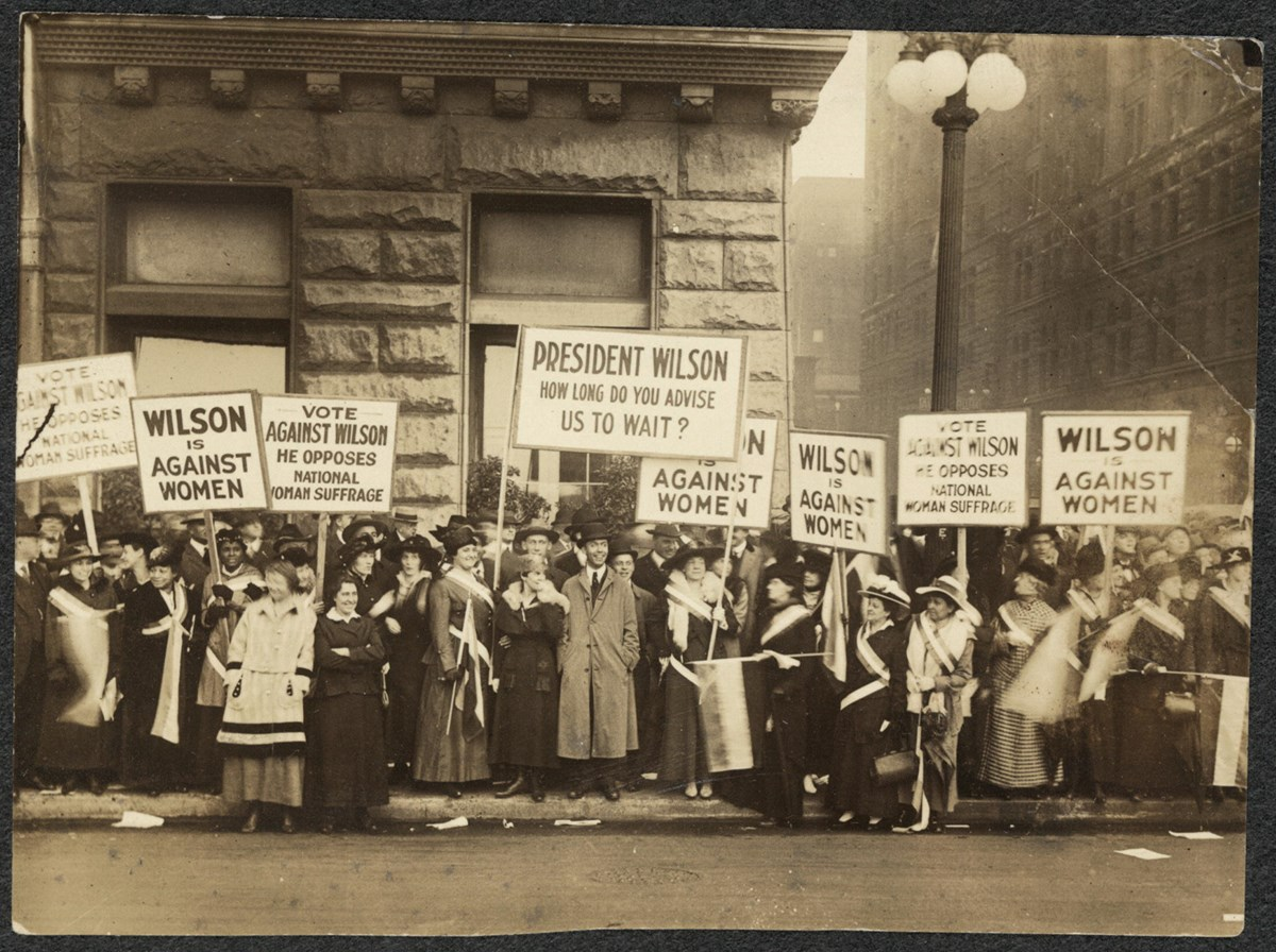 Romeo And Juliet English Essay Suffragists Demonstrating Against Woodrow Wilson In Chicago  Library  Of Congress Records Of Sample High School Admission Essays also Essay Thesis Example Essay  The Nineteenth Amendment Us National Park Service How To Write A Proposal Essay Example
