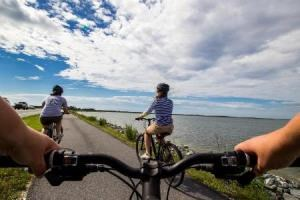 Biking in the Maryland district of Assateague Island