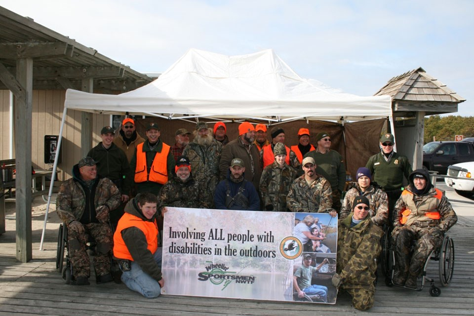 photo of hunters with mobility challenges