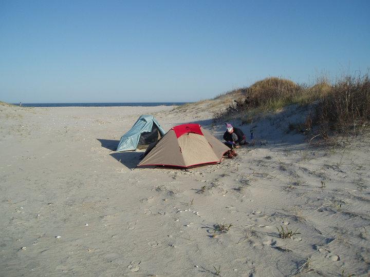 Beach Camping Chincoteague Island
