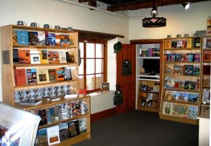 photo of the bookstore at Aztec Ruins National Monument