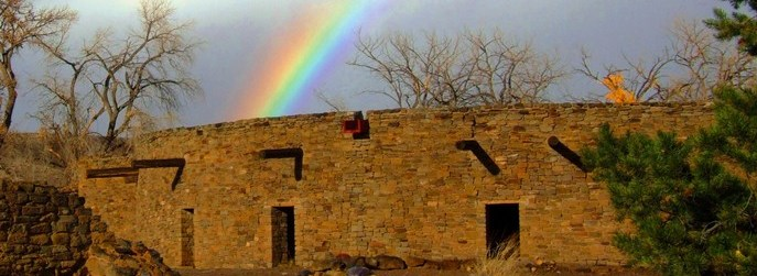Rainbow over the Great Kiva