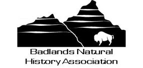 Badlands Natural History Association logo with bison and badlands