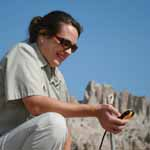 using a GPS unit to explore the Badlands