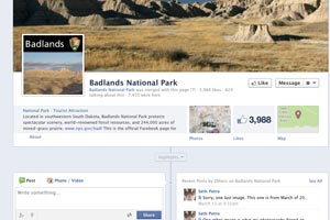 Badlands National Park Facebook Site
