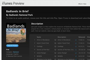 Badlands In Brief iTunes Site