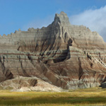 Badlands butte