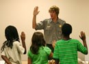 Group of children take the Junior Ranger pledge