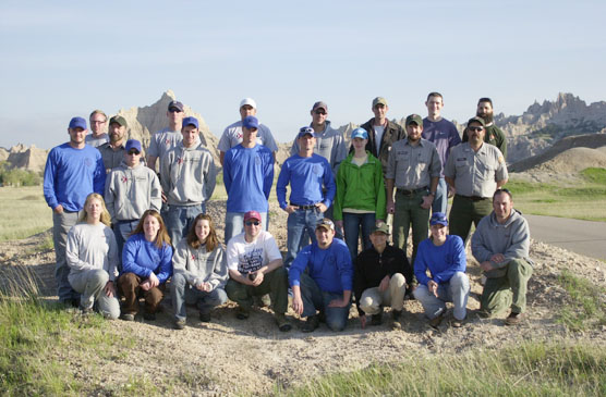 Members of the EPMT at training in Badlands National Park.