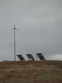The new photovoltaic and wind turbine alternative energy system at Badlands National Park