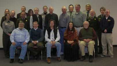 Graduates of the Plus50 Program with National Park Service employees