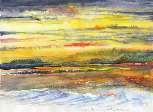 Panorama Sunset by Poet Kathleen M. Heideman, 2010 Artist in Residence