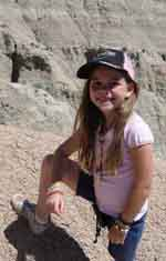 Seven year old Kylie in the Badlands