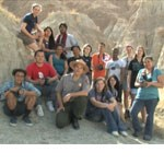 Park superintendent Eric J. Brunnemann with youth group in the Badlands.