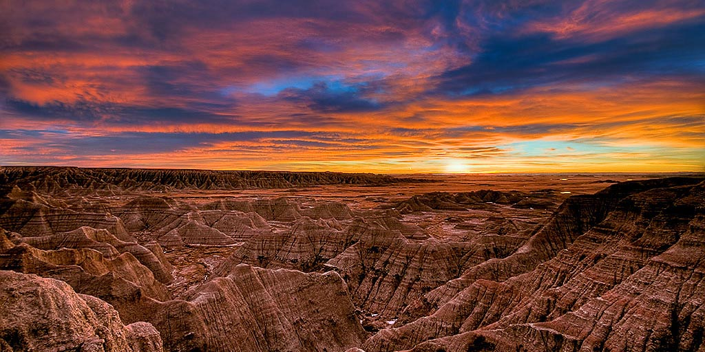 Big Badlands Overlook by Photographer Rikk Flohr, 2008 Artist in Residence