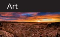 Art thumbnail with scenic Badlands background