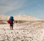Hiker in the Badlands by Photographer Carl Johnson, 2009 Artist in Residence