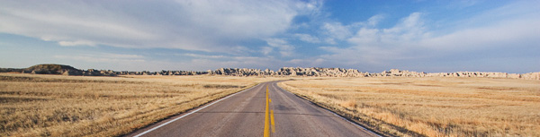 On the Road into Badlands National Park by Photographer Gabby Salazar, 2008 Artist in Residence