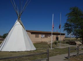 Teepee in front of White River Visitor Center