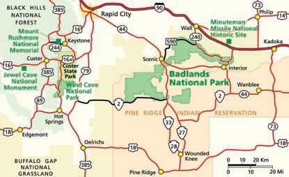 Badlands Nebraska Map.Directions Badlands National Park U S National Park Service