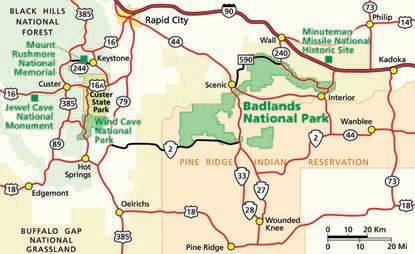 Directions - Badlands National Park (U.S. National Park Service) on custer state park maps, badlands national park maps, jackson county maps, united states maps, south shore maps, wedding maps,