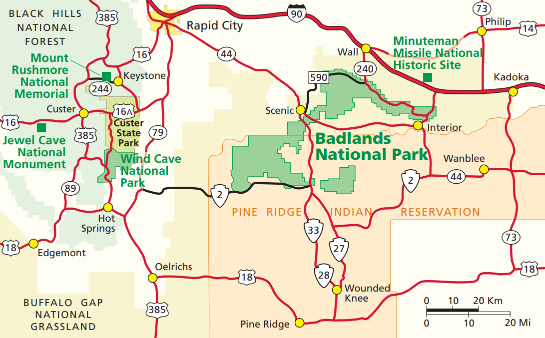 Directions Badlands National Park U S National Park Service