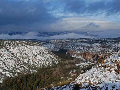 snowy frijoles canyon 2