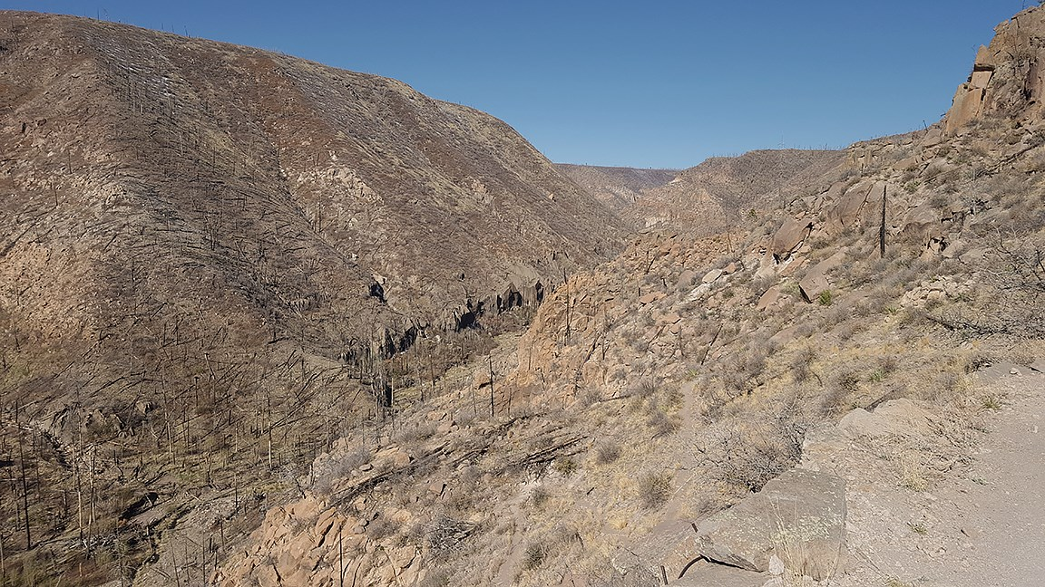 up frijoles canyon