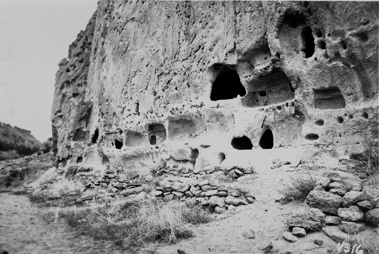 Historic Photos of Long House - Bandelier National Monument