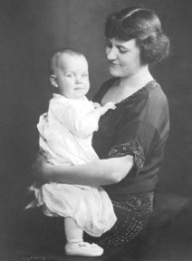 Mrs Frey and son, Richard